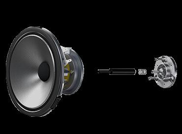 Izolacja mechaniczna głośnika średniotonowego