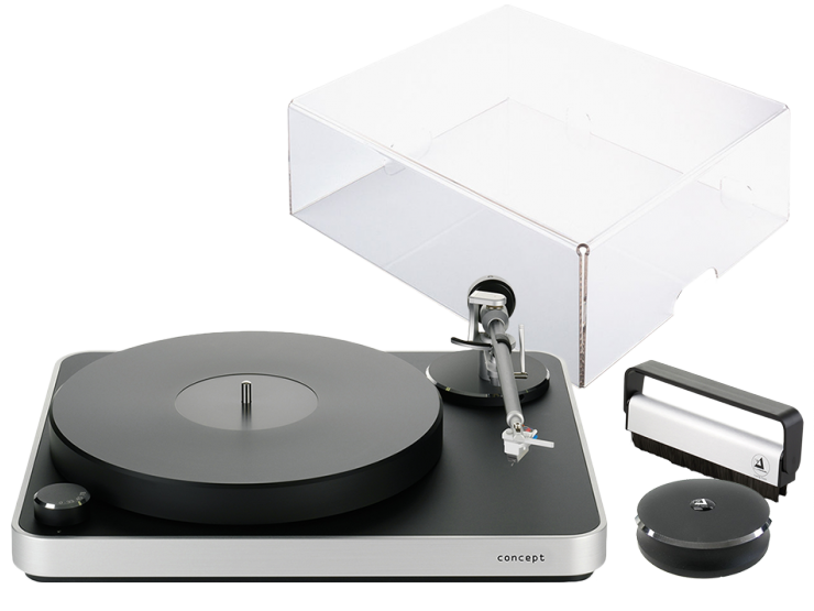 Concept (sr/bl) + pokrywa + Concept Record Clamp + Record Cleaning Brush