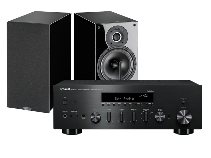 Zestaw stereo - amplituner sieciowy Yamaha R-N602 + Kolumny Indiana Line Tesi 262