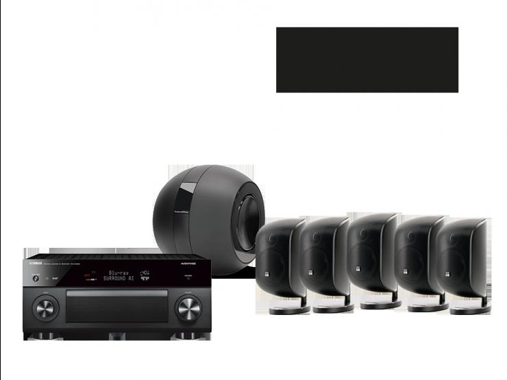 MusicCast RX-A3080 + 5 x M-1 + PV1D