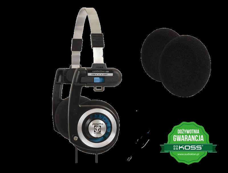 Słuchawki KOSS Porta Pro + Zestaw 6szt. gąbek na nauszniki