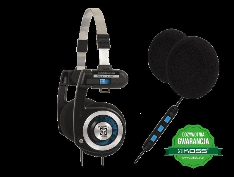 Słuchawki KOSS Porta Pro KTC + Zestaw 6szt. gąbek na nauszniki
