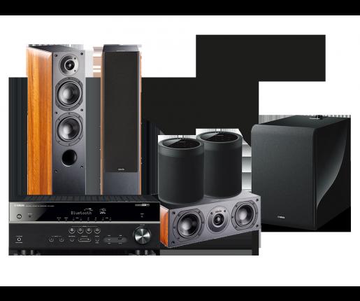 RX-V485 + NOTA 550 X + NOTA 740 X + 2 x MusicCast 20 + SUB 100