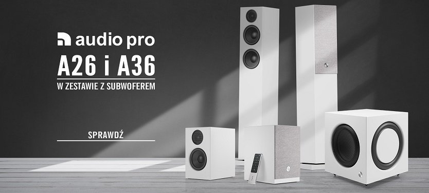 Audio Pro A26 i A36 – teraz taniej w zestawie z subwooferem