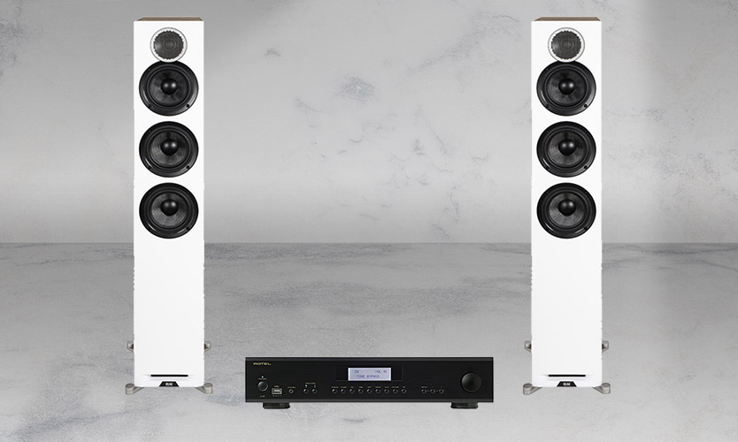 Rotel A12 + ELAC Reference F5