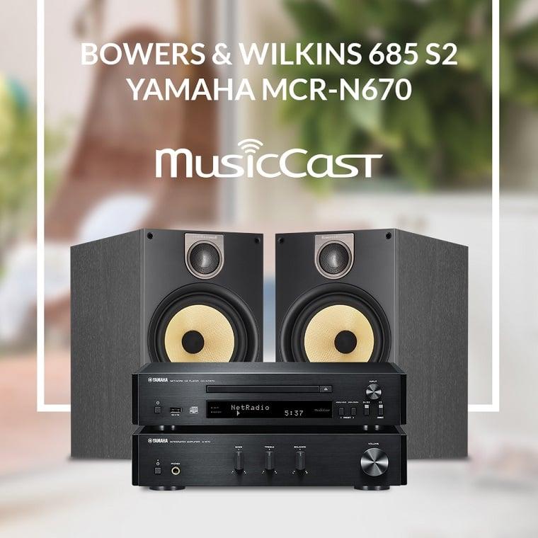 Zestaw Bowers & Wilkins 685 S2 i Yamaha MCR-N670