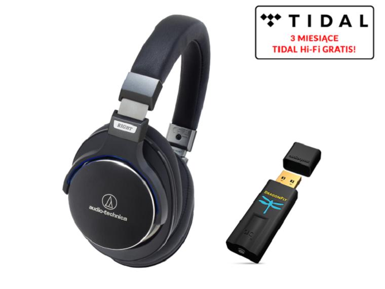 Audio-Technica ATH-MSR7 black + DragonFly Black