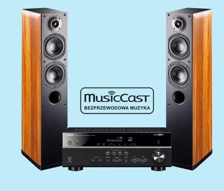 Indiana Line Nota 550 oraz Yamaha MusicCast RX-V485