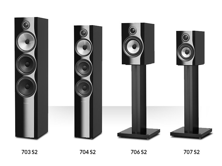 Bowers & Wilkins 703 S2, 704 S2, 706 S2, 707 S2