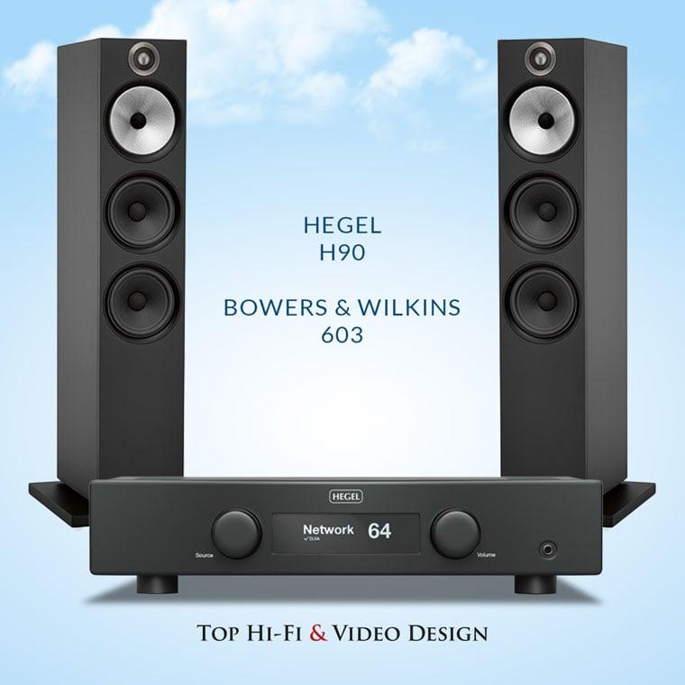 Hegel H90 oraz Bowers & Wilkins 603