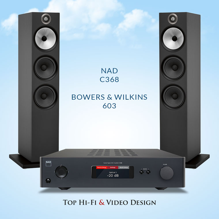 NAD C368 oraz Bowers & Wilkins 603