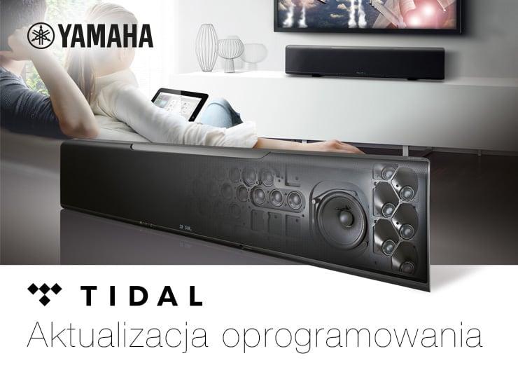 Soundbary Yamaha z obsługą serwisów muzycznych Tidal i Deezer