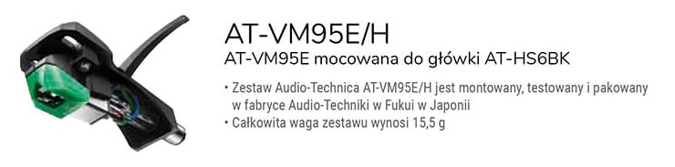 Audio - Technica AT-VM95E/H