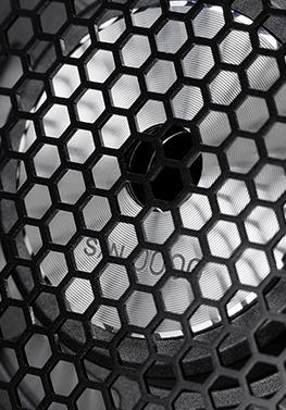 Obudowa słuchawek Audio-Technica ATH-ADX5000 o strukturze plastra miodu