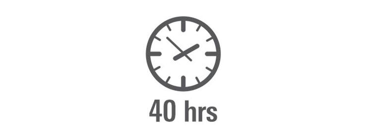 40 godzin słuchania muzyki w trybie bezprzewodowym
