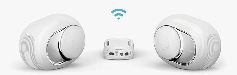 Devialet Phantom w konfiguracji stereo z routerem Dialog