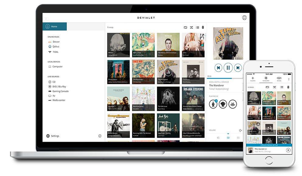 Aplikacja Spark to sterowania urządzeniem Phantom Gold i zarządzania biblioteką muzyczną