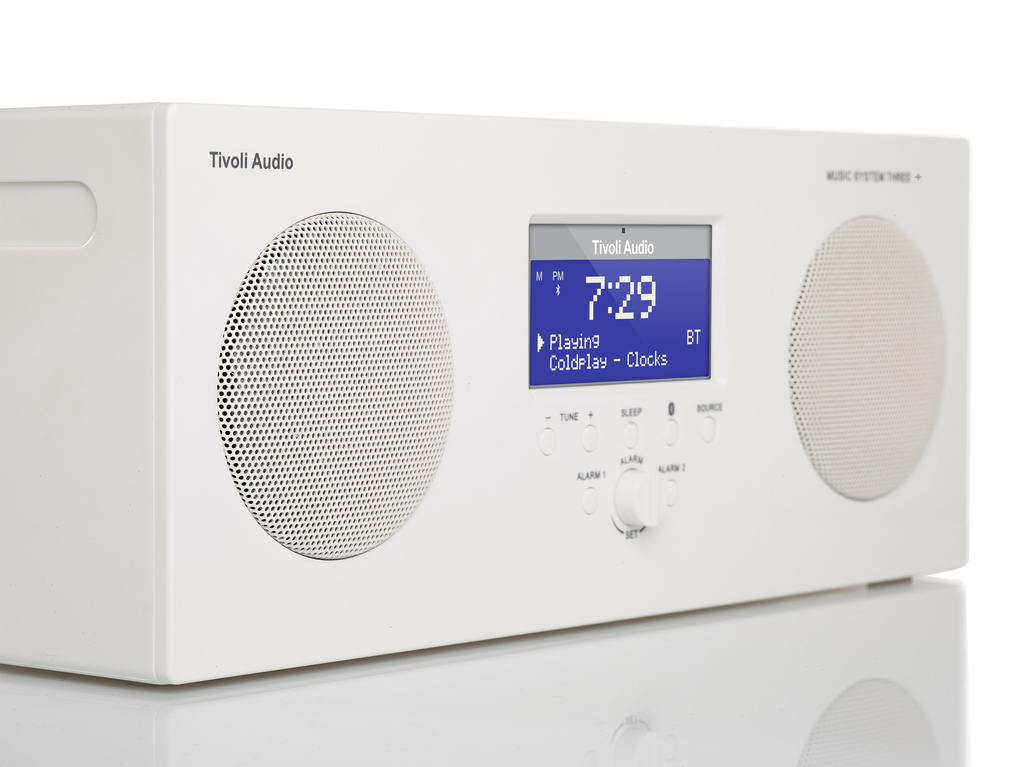 tivoli audio music system three + white, lifestyle picture