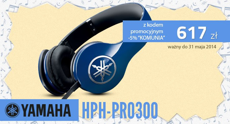 yamaha HPH-pro300 komunia prezent 2014