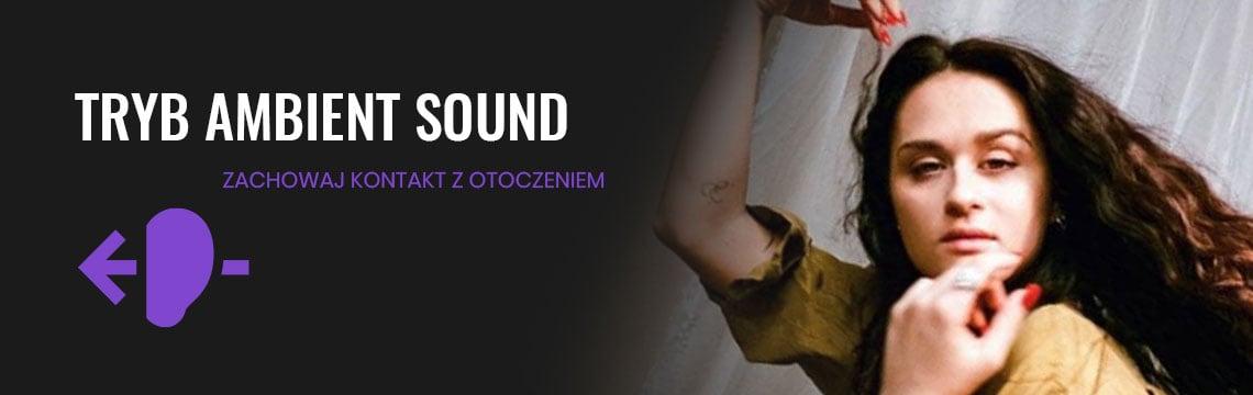 bezprzewodowe słuchawki wokółuszne z ANC i adaptacyjnymi technologiami do optymalizacji dźwięku