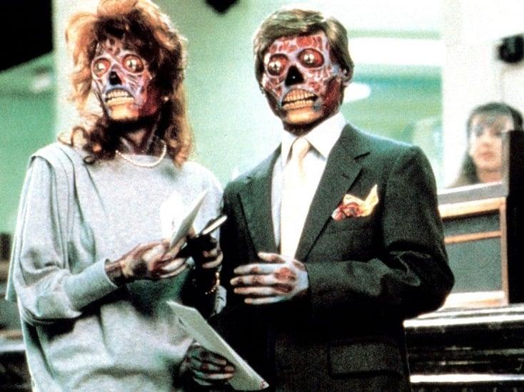 "fot. kadr z filmu ""Oni żyją"", 1988 r., reż. John Carpenter"