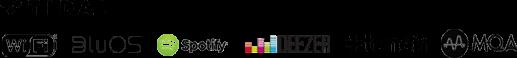 Tidal WiFi BluOS Spotify Deezer tunein MQA