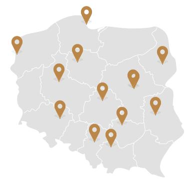 14 salonów w całej Polsce